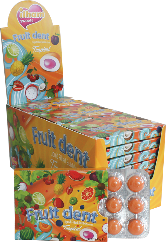 12 FRUITDENT DRAGEE BLISTER TROPICAL