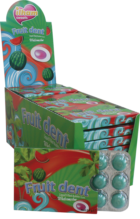 12 FRUITDENT DRAGEE BLISTER WATERMELON