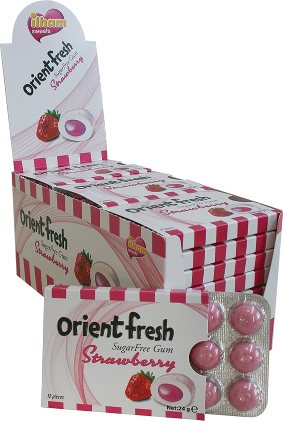 12 ORIENT FRESH DRAGEE BLISTER STRAWBERRY- SUGAR FREE