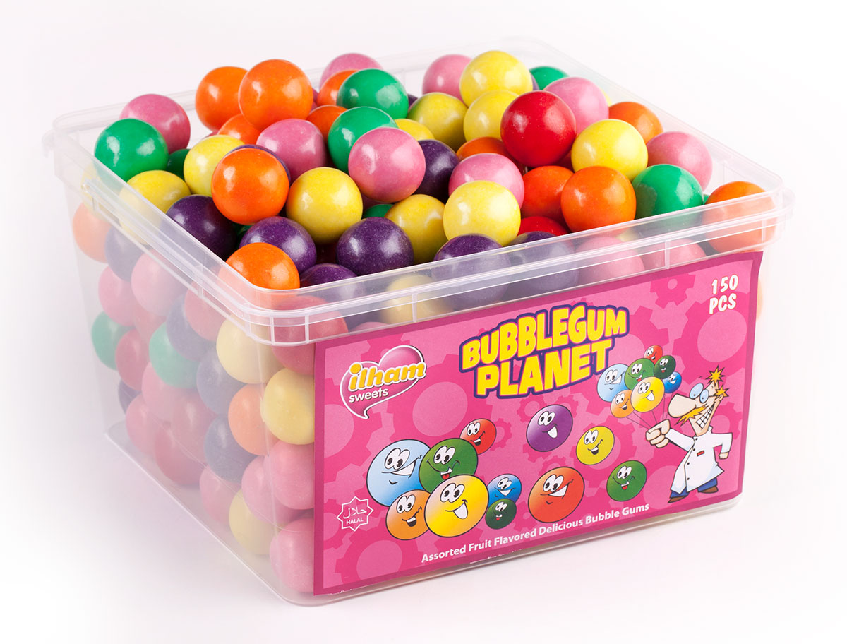 BUBBLE GUM PLANET ASSORTED BUBBLE GUM BULK