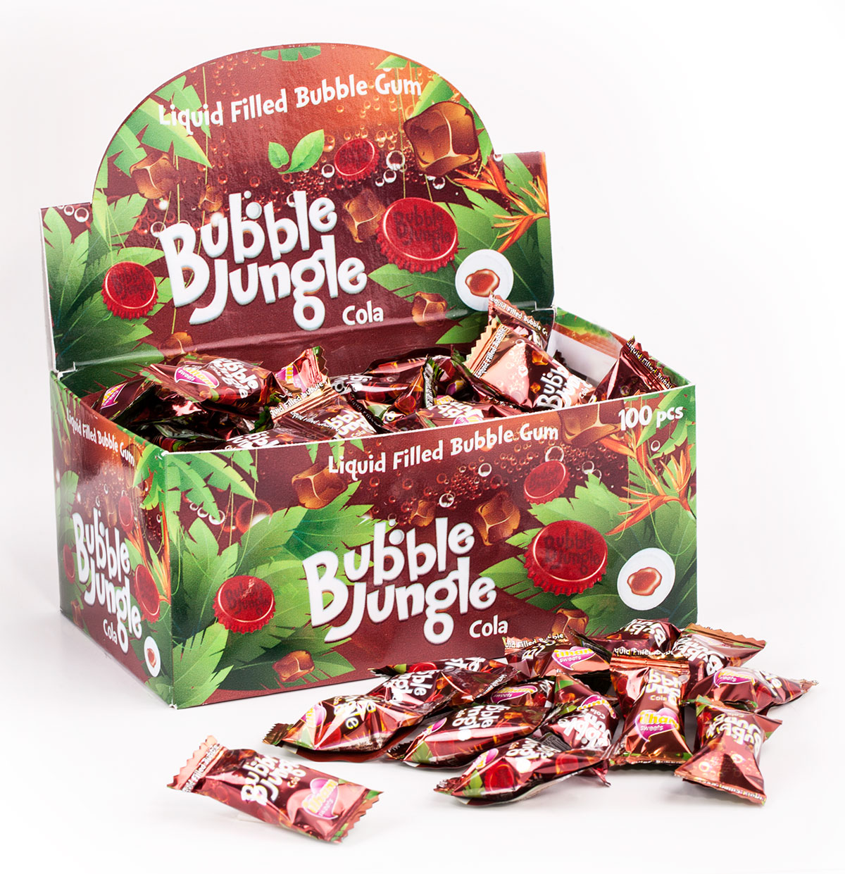 BUBBLE JUNGLE LIQUID FILLED BUBBLE GUM - COLA